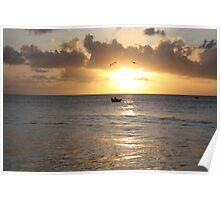 Sunset in Tobago Poster