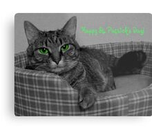 Happy St. Patrick's Day From Gracie Metal Print