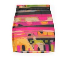 Hot colored sunset abstract, modern NEW FASHION textile art Mini Skirt