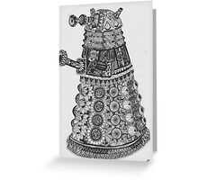 Dalek Pattern Greeting Card