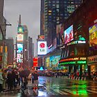 Times Square in the Rain by Iain Mavin