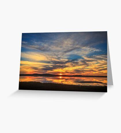 Sunset Spreads over Plum Island Greeting Card