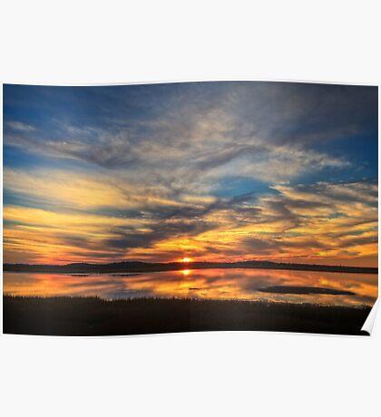 Sunset Spreads over Plum Island Poster