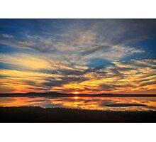 Sunset Spreads over Plum Island Photographic Print