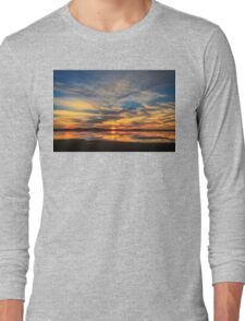 Sunset Spreads over Plum Island Long Sleeve T-Shirt