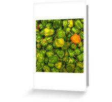 Green Scotch Bonnet Peppers Greeting Card