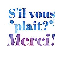 S'il Vous Plait? Merci! (Please? Thank you! in French) by jazzydevil