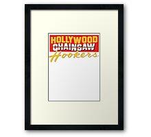 hollywood chainsaw logo Framed Print