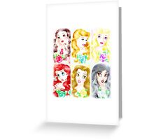The Garden Of Princesses  Greeting Card