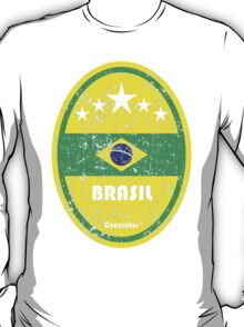 World Cup Football 1/8 - Brasil (Distressed) T-Shirt