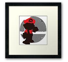 Mario (Smash 64) - Sunset Shores Framed Print