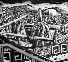 "Mural ""Black Gold"" (Oro Negro) by Ehivar Flores Herrera"