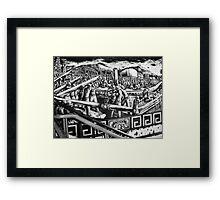 """Mural """"Black Gold"""" (Oro Negro) Framed Print"""
