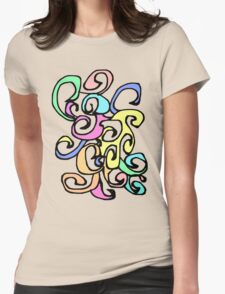 The Curl N Wave Womens Fitted T-Shirt