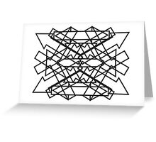 Symmetrical Arrows - Number 01 Greeting Card