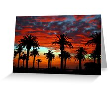 Sunset at St Kilda Beach  Greeting Card