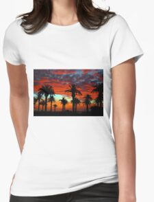 Sunset at St Kilda Beach  Womens Fitted T-Shirt