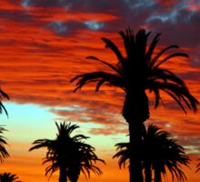 Sunset at St Kilda Beach  Sticker