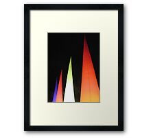 Coloured cones Framed Print