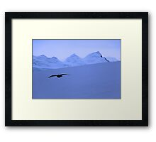 Flying through Antarctica,  Serenity Framed Print