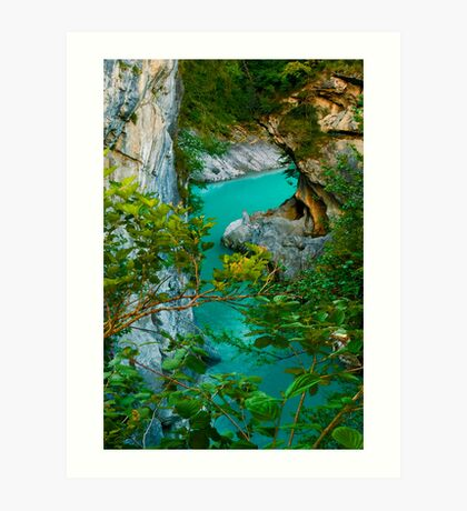 Turquoise Flow Art Print