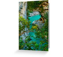 Turquoise Flow Greeting Card