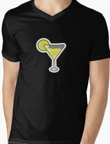 Lime Martini Mens V-Neck T-Shirt