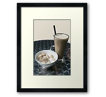 latte coffee any one! Framed Print