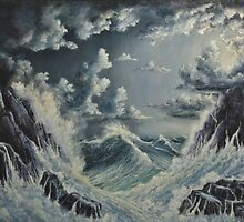 STORMY SEA by John Cocoris