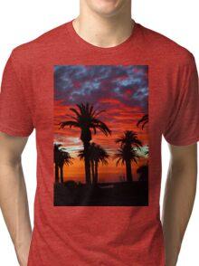 Sunset along St. Kilda beach Tri-blend T-Shirt