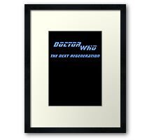 Doctor Who - The Next Regeneration Framed Print