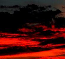 Sand Red Clouds Sticker