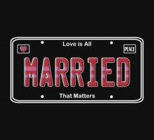 Same Sex Marriage License Plate by Samuel Sheats