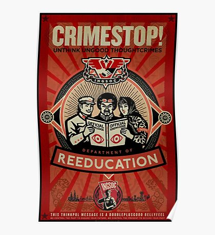 INGSOC 1984 Thoughtcrime Poster