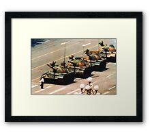 Tank Man Painting Framed Print