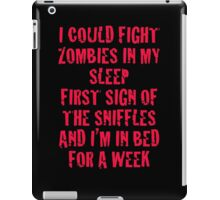 Zombies & Sniffles (Red) iPad Case/Skin