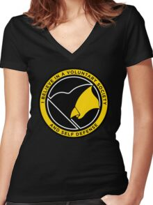 Voluntary Society Women's Fitted V-Neck T-Shirt