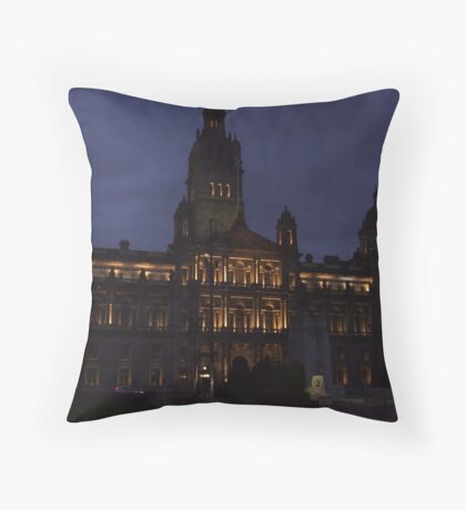 Glasgow City Chambers Throw Pillow