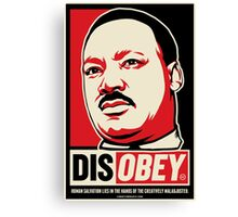 Martin Luther King Civil Disobedience Shirts Canvas Print