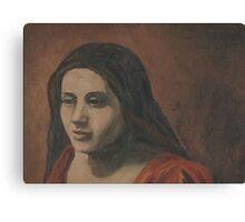 Girl on Balcony Canvas Print