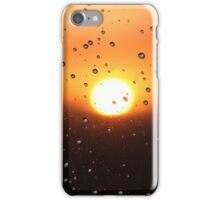 Water Droplets During Sunset iPhone Case/Skin
