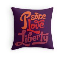 Peace Love Liberty Throw Pillow