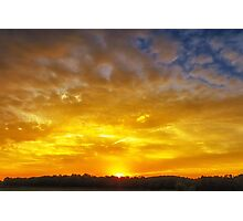 Great Meadows Sunset of Gold Photographic Print