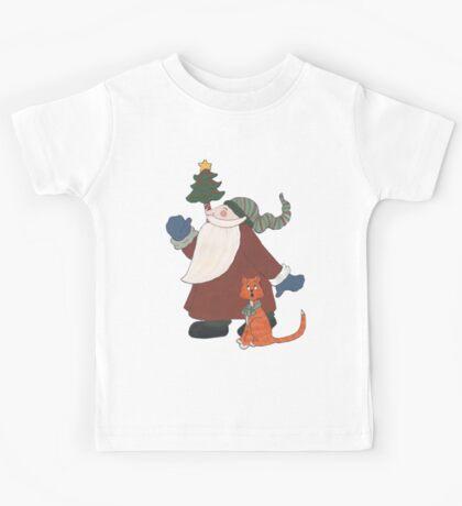 Juggling Santa Kids Tee