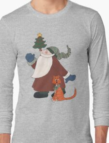 Juggling Santa Long Sleeve T-Shirt