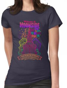 Welcome to Moonside Womens Fitted T-Shirt