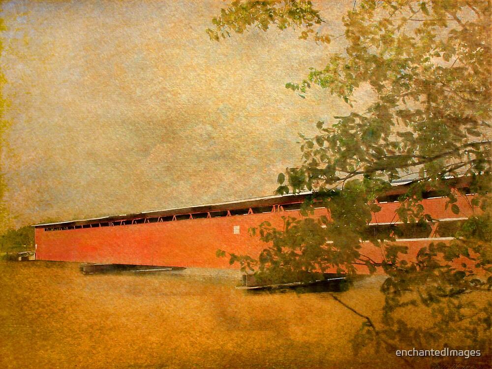 Langley Covered Bridge by enchantedImages