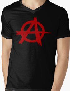 Anarchy Symbol T Shirt Mens V-Neck T-Shirt