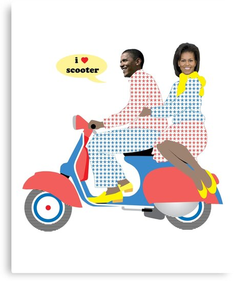 OBAMA HEART VESPA by madeofthoughts