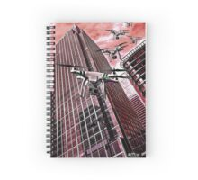 Red swarm over Canary Wharf by #fftw Spiral Notebook